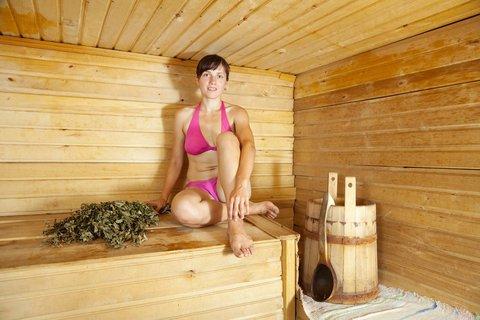 badkleding dagen in de sauna