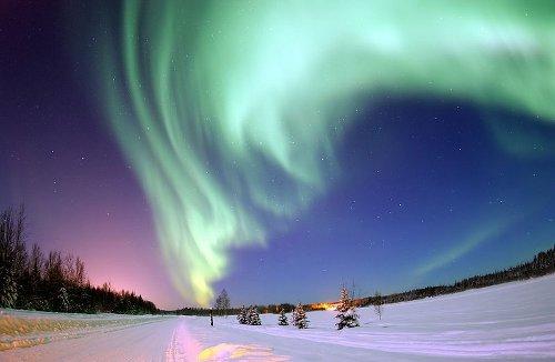 Noorderlocht boven Alaska - CC http://commons.wikimedia.org